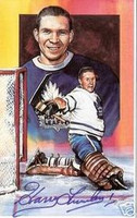 Harry Lumley Autographed Legends of Hockey Card