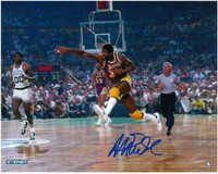 Magic Johnson Autographed LA Lakers 8x10 Photo #4 - Showtime