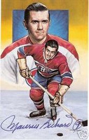 "Maurice ""Rocket"" Richard Autographed Legends of Hockey Card"