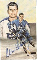 Allan Stanley Autographed Legends of Hockey Card