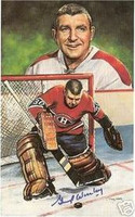Gump Worsley Autographed Legends of Hockey Card