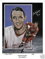 Bill Gadsby Autographed Detroit Red Wings 11x14 Lithograph