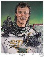 Jon Casey Autographed Minnesota North Stars 11x14 Lithograph