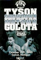 Mike Tyson vs Andrew Golota - Official Fight Poster from Detroit
