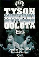 Mike Tyson vs Andrew Golota - Official Fight Poster from Detroit