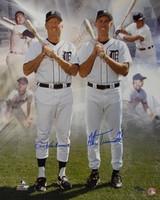 Al Kaline & Alan Trammell Autographed Detroit Tigers 16x20 Photo