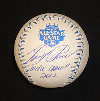 "Miguel Cabrera Autographed 2012 All Star Game Baseball Inscribed ""Triple Crown 2012"""