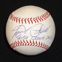 """Miguel Cabrera Autographed Baseball - """"Triple Crown 2012"""" Inscription (Pre-Order)"""