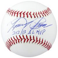 """Miguel Cabrera Autographed Baseball - """"2012/13 AL MVP"""" Inscription (Pre-Order)"""