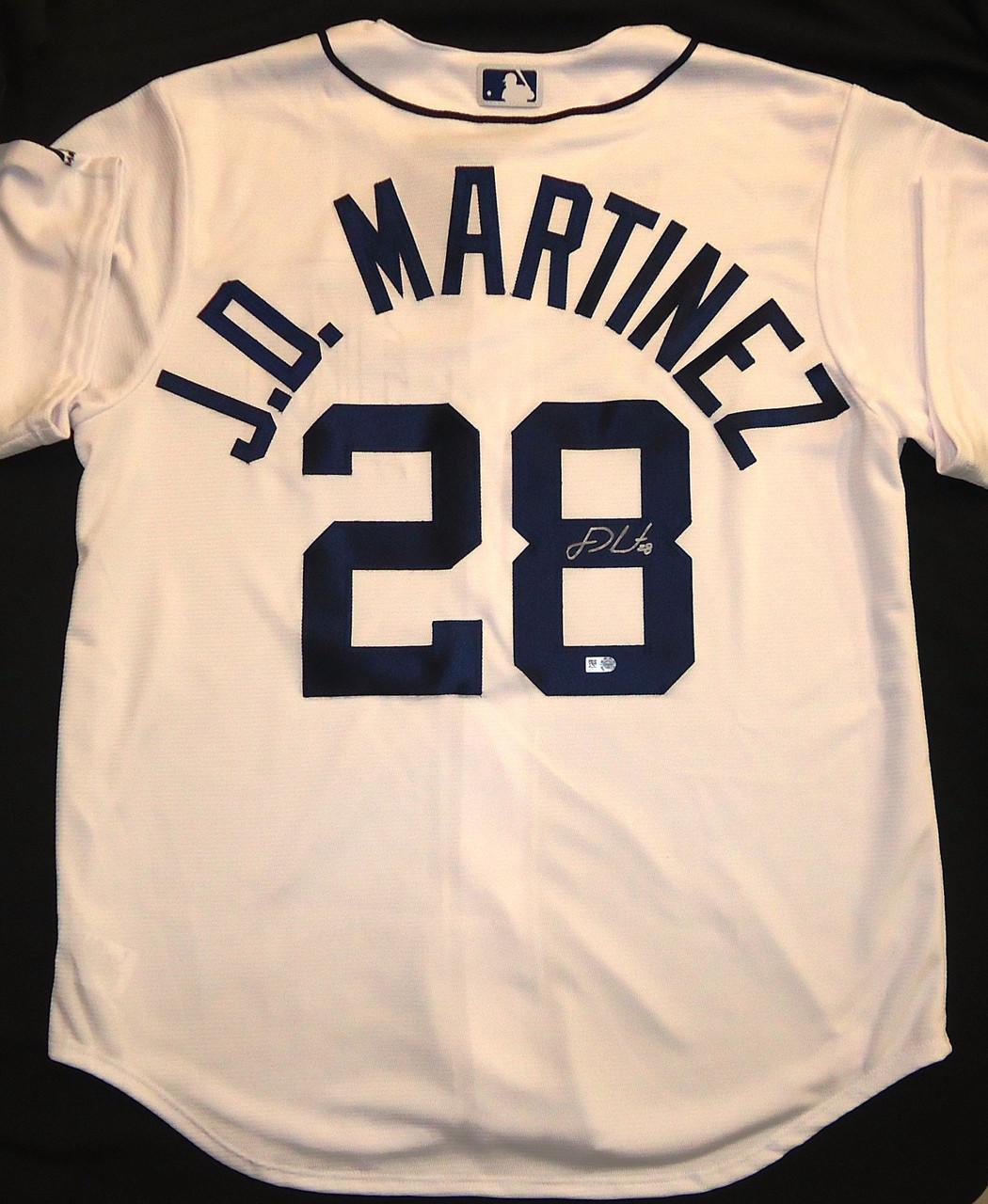official photos 7b51b 71924 J.D. Martinez Autographed Detroit Tigers Home Jersey