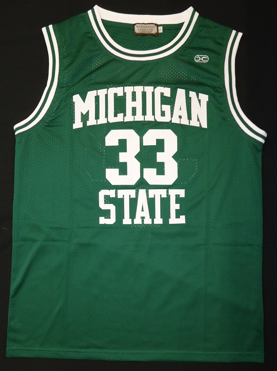 watch 89c75 819bc Magic Johnson Autographed Michigan State Spartans Green Jersey