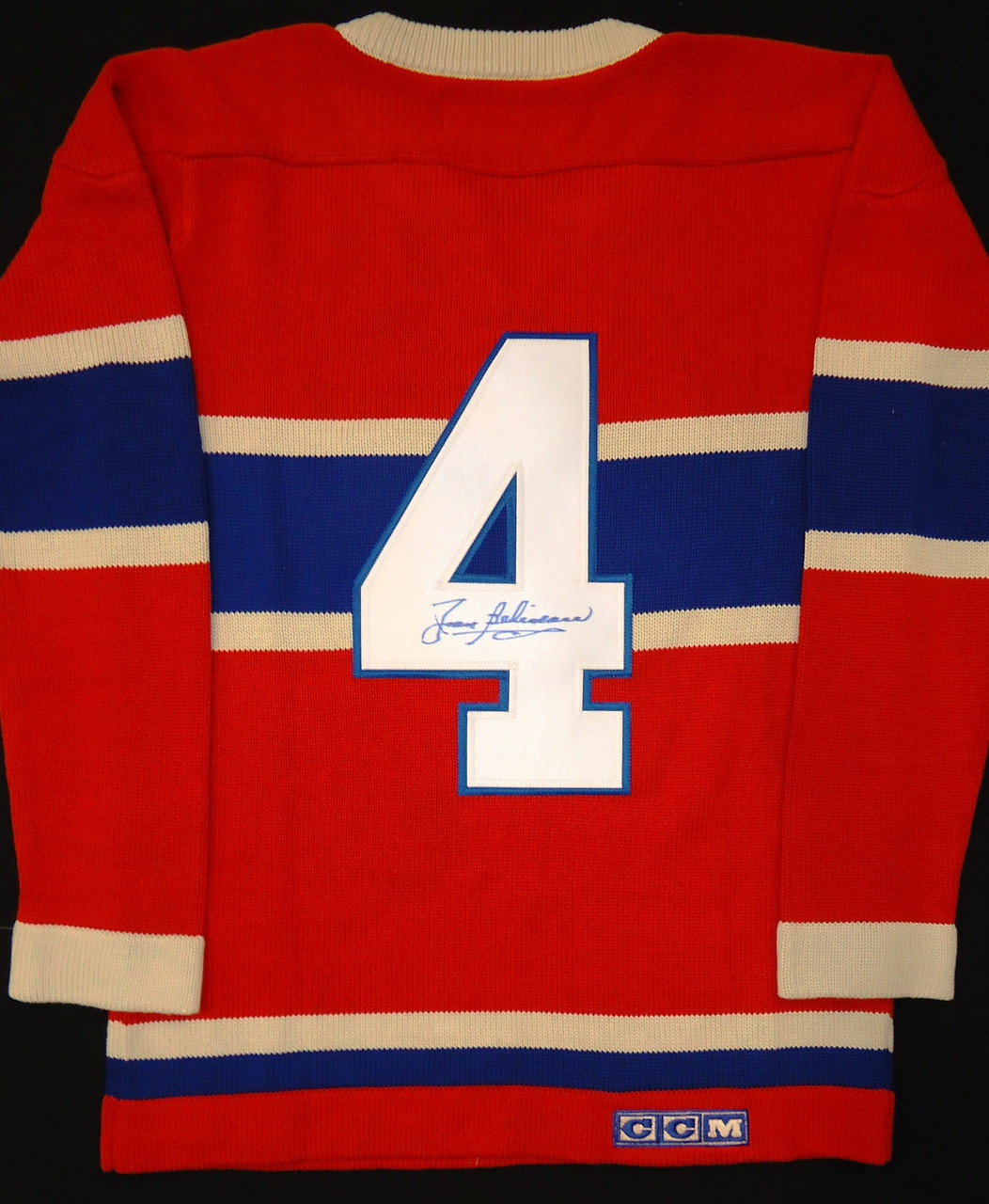 cheap for discount 191da 69827 Jean Beliveau Autographed Montreal Canadiens Jersey Sweater
