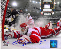 Chris Osgood Autographed Detroit Red Wings 8x10 Photo #1 - Last Save 2008 Finals
