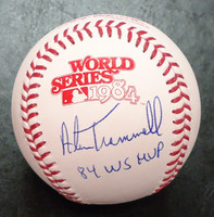 Alan Trammell Autographed 1984 World Series Baseball