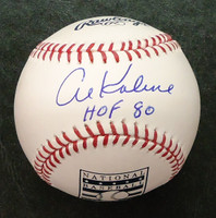 Al Kaline Autographed HOF Logo Baseball
