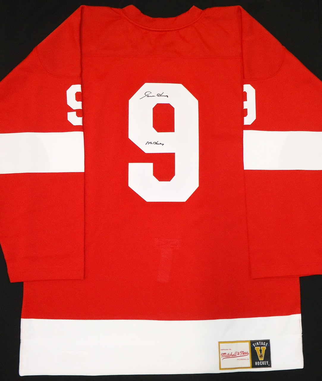5dcdb5729 Detroit Red Wings Mitchell Ness Jersey. Gordie Howe Autographed Mitchell  Ness Jersey ...