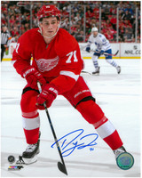 Dylan Larkin Autographed Detroit Red Wings 8x10 Photo #1 - 1st NHL Game (Pre-Order)