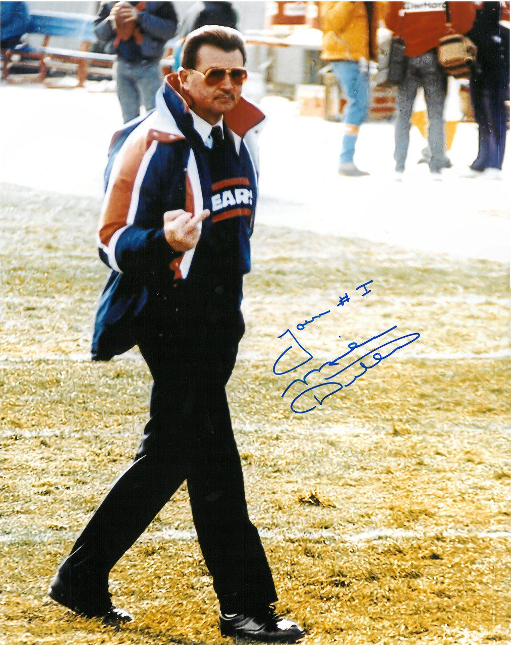 official photos f8afb 8e8d1 Mike Ditka Autographed Chicago Bears 16x20 Photo #1 - You're #1