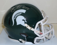 Connor Cook Autographed MSU Spartans Speed Mini Helmet