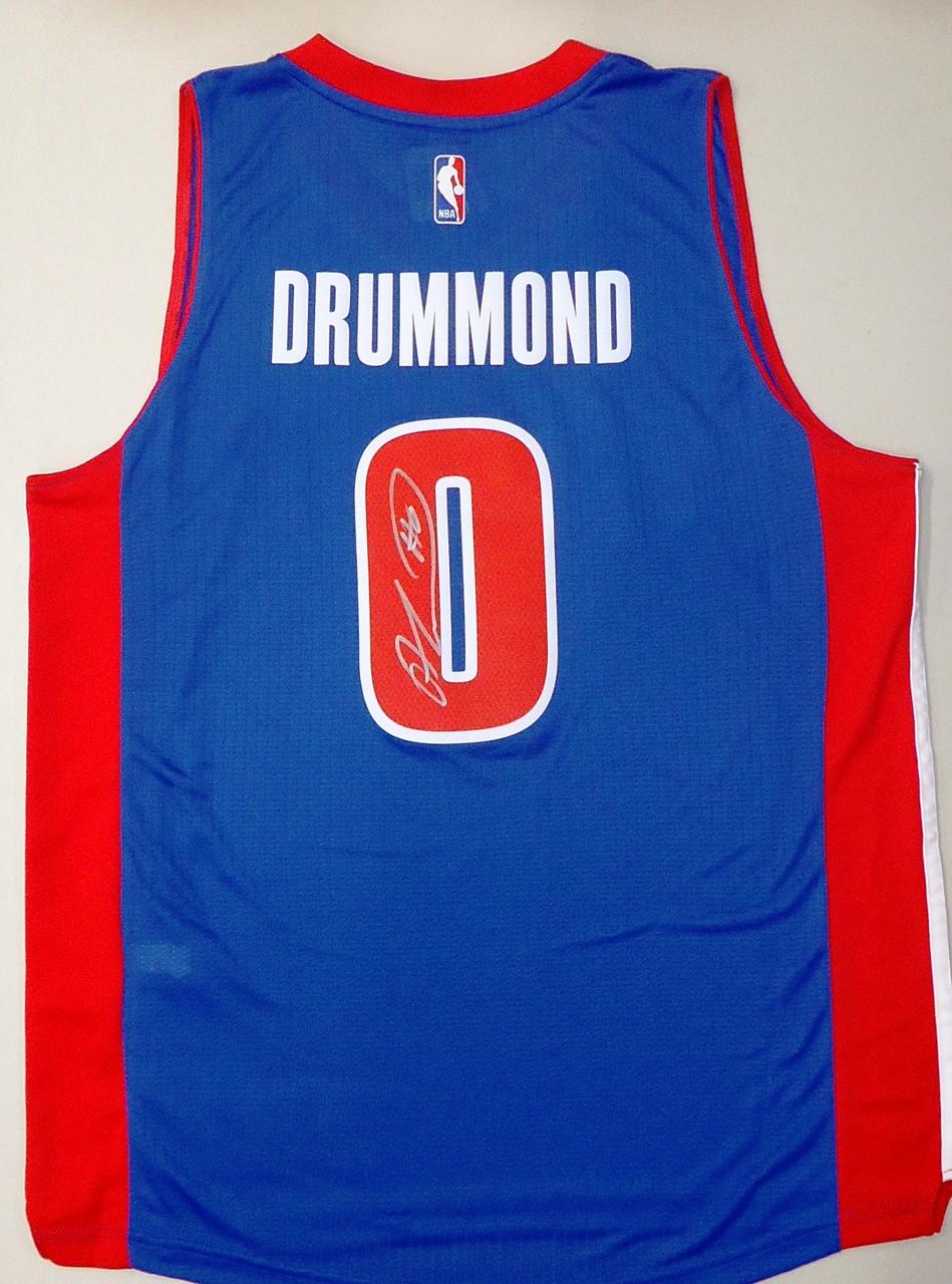 Andre Drummond Autographed Detroit Pistons Road Jersey - Detroit ... bd5b206c8c4f