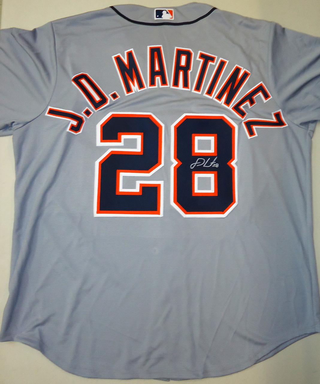 new arrival 598ce 42a2f J.D. Martinez Autographed Detroit Tigers Road Jersey