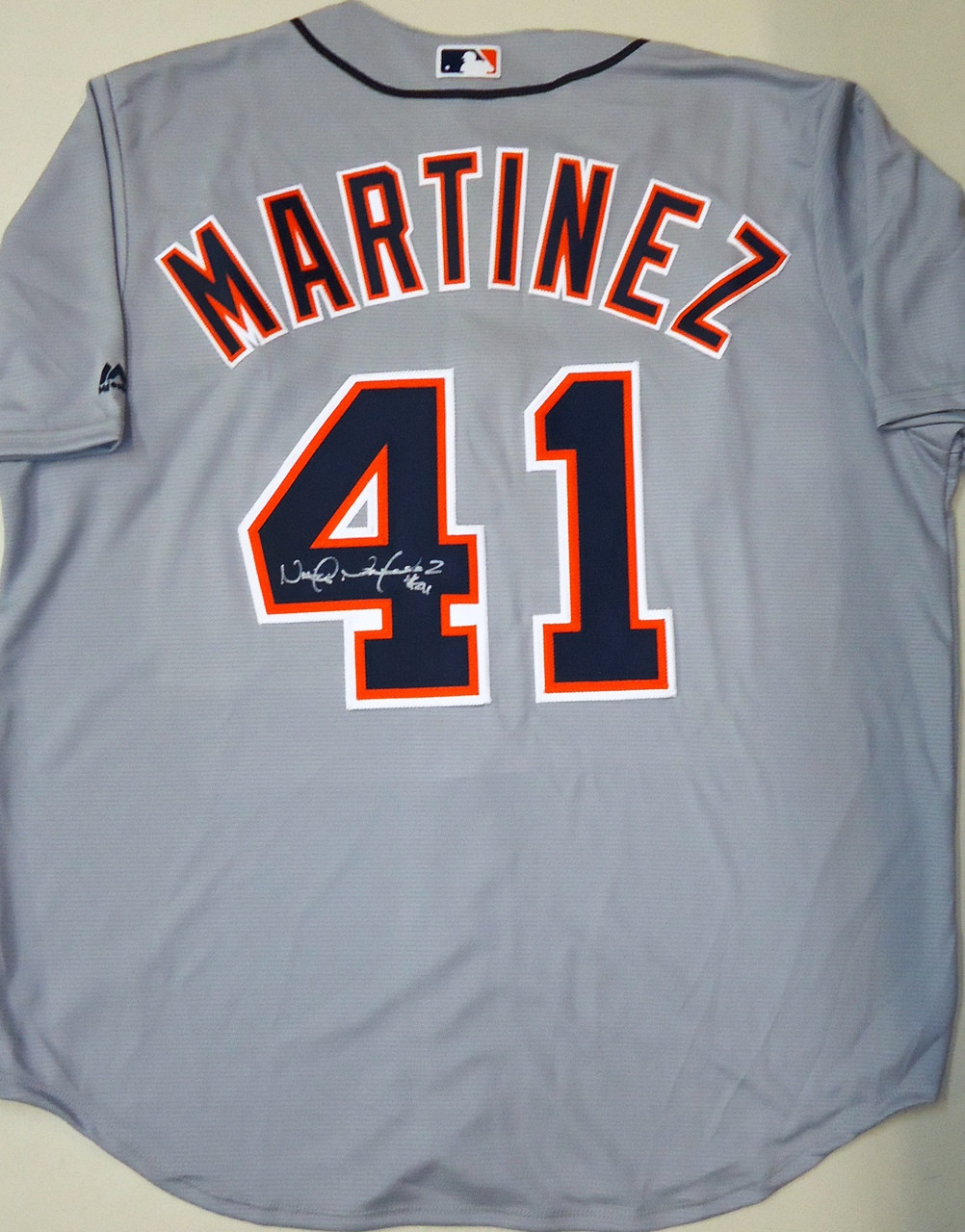 official photos 05828 4b4f2 Victor Martinez Autographed Detroit Tigers Road Jersey