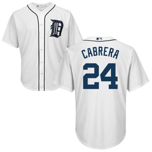 competitive price b58b3 999d1 Detroit Tigers Majestic Home Replica Cool Base Jersey - Miguel Cabrera #24
