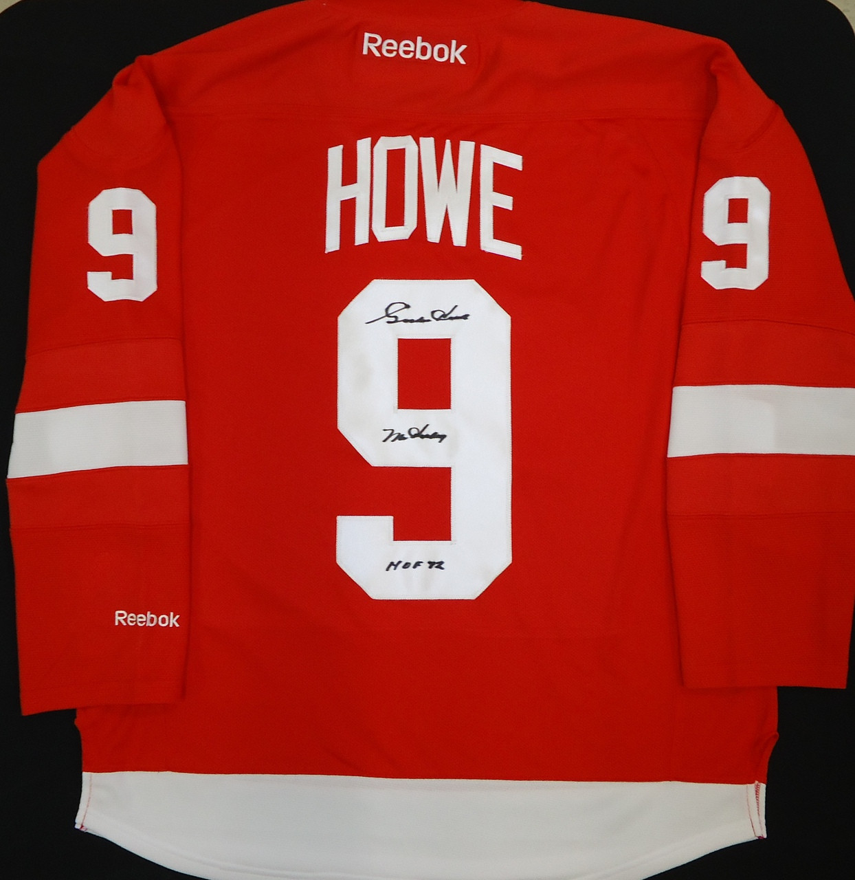 lowest price 1371d ac33d Gordie Howe Autographed Detroit Red Wings Home Jersey with
