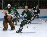 Gordie Howe Autographed Hartford Whalers 11x14 Photo #4 - Action