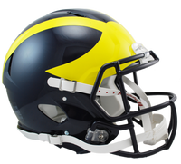 Lloyd Carr Autographed Michigan Wolverines Full Size Authentic Speed Helmet (Pre-Order)