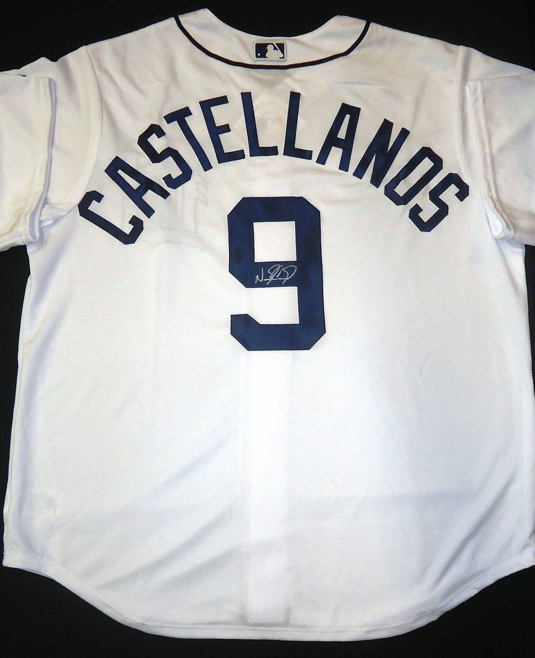 new product ab381 ad070 Nick Castellanos Autographed Detroit Tigers Home Jersey
