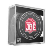 """Steve Yzerman Autographed Joe Louis Farewell Season Game Puck Inscribed """"HOF 09"""" (Pre-Order)"""