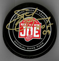 "Steve Yzerman Autographed Farewell to the Joe Official Game Puck Inscribed ""HOF 09"""