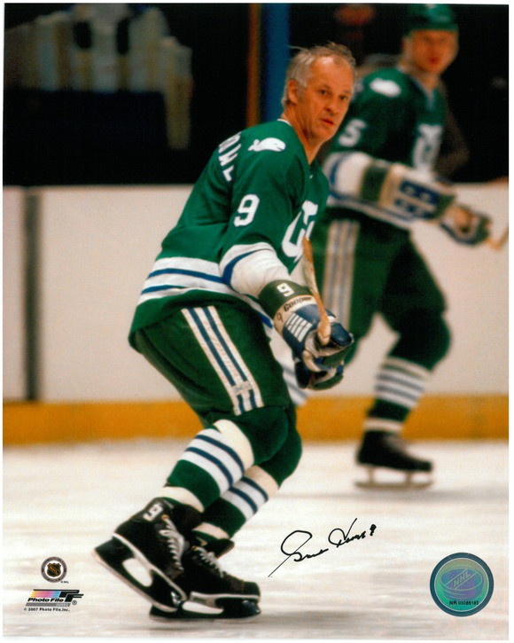 size 40 c581c fed62 Gordie Howe Autographed Hartford Whalers 8x10 Photo #12 - Action