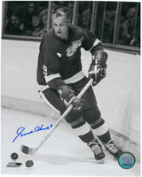 Gordie Howe Autographed Detroit Red Wings 8x10 Photo #6 - Skating along the boards