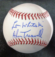 Alan Trammell & Lou Whitaker Autographed Baseball - Official Major League Ball
