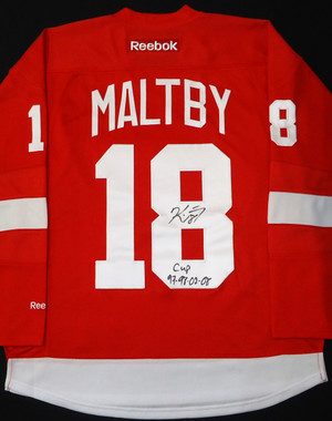 Kirk Maltby Autographed Detroit Red Wings Jersey