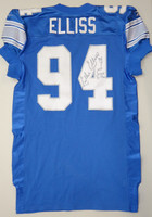Luther Elliss Autographed Detroit Lions Team Issued 1998 Jersey