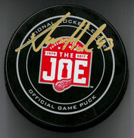 Darren Helm Autographed Farewell to the Joe Official Game Puck