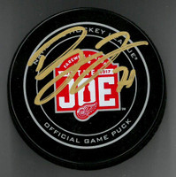 Dylan Larkin Autographed Farewell to the Joe Official Game Puck (Pre-Order)