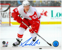 Darren Helm Autographed Detroit Red Wings 8x10 Photo #1 - Horizontal