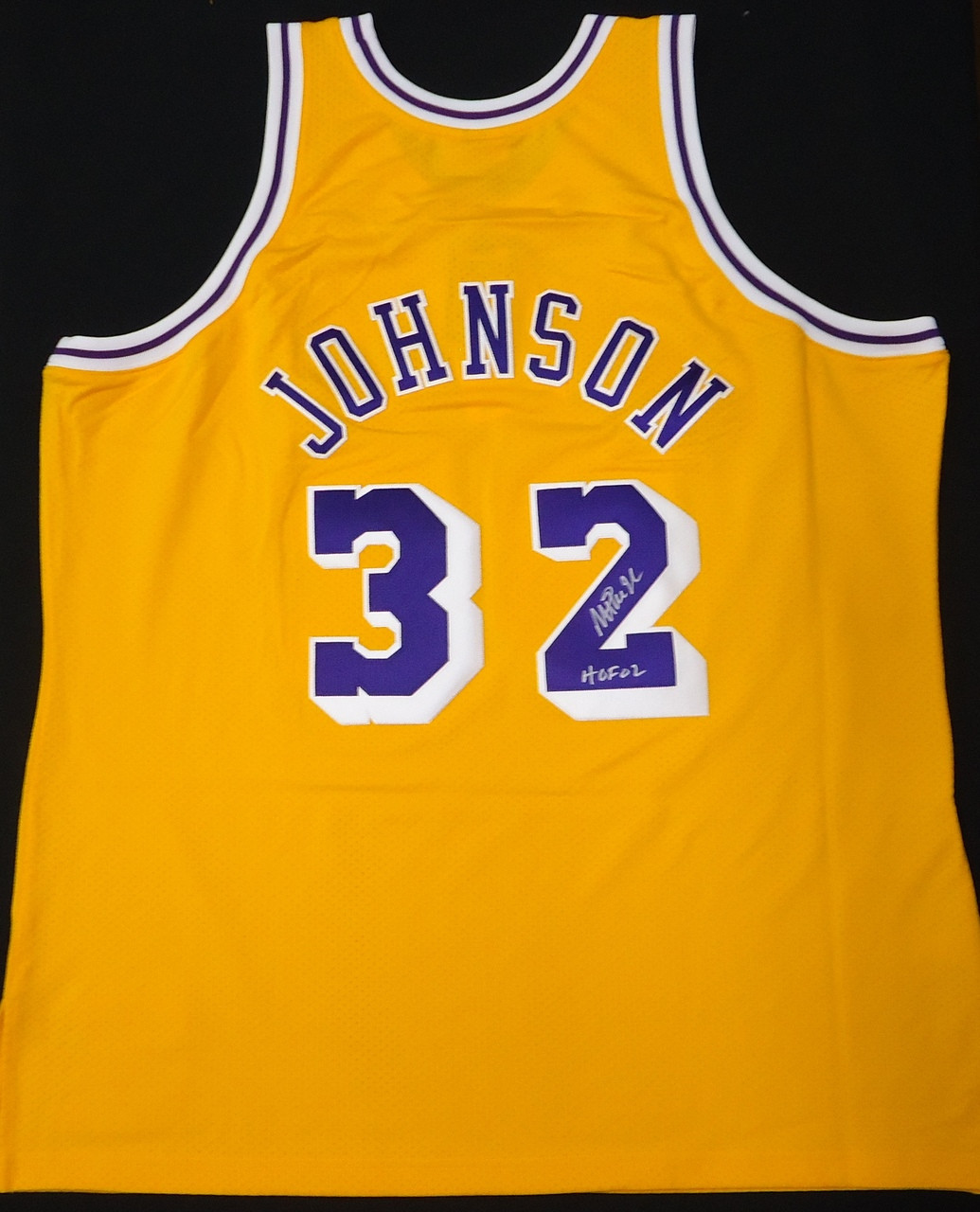 new product 22d46 21774 Magic Johnson Autographed LA Lakers Mitchell & Ness Authentic Jersey