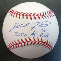 "Michael Fulmer Autographed Baseball inscribed ""2016 AL ROY"" - Official Major League Ball"