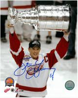 "Steve Yzerman Autographed 8x10 Photo #2 - Stanley Cup w/ ""HOF 09"" (Pre-Order)"