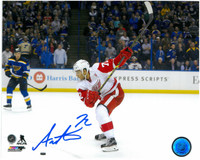 Andreas Athanasiou Autographed Detroit Red Wings 8x10 Photo #5 - Slap Shot