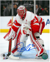 Jared Coreau Autographed Detroit Red Wings 8x10 Photo #3 - Vertical Action