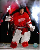 Jimmy Howard Autographed Detroit Red Wings 8x10 Photo #4 - Player Introductions