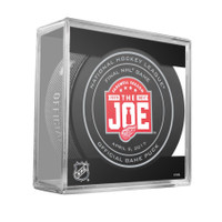 Detroit Red Wings Farewell to the Joe Final Game 4/9/17 Official Game Puck