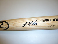 J.D. Martinez Autographed Rawlings Pro Bat (Tan)