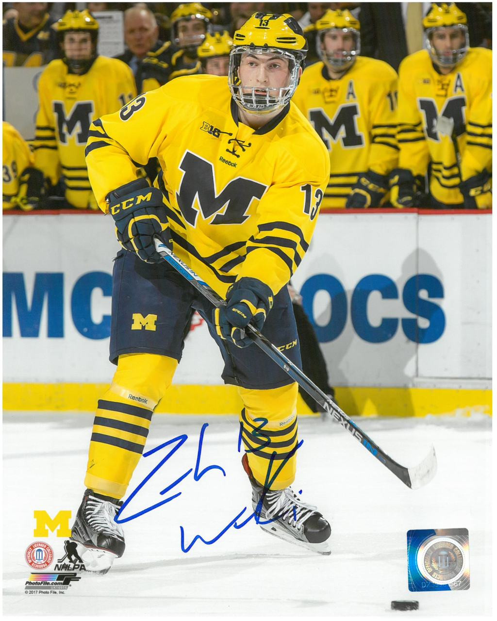 sneakers for cheap b962f af9ee Zach Werenski Autographed 8x10 Photo #2 - University of Michigan